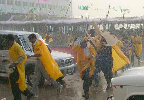 Rain on Convocation Day