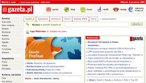 Firefox na gazeta.pl