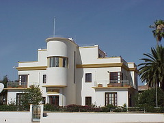 Beautiful Art Deco building, former Villa, Asmara, Eritrea