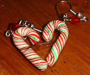 Peppermint scented Glitter Candy canes