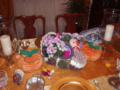 Turkey Centerpiece with Mums