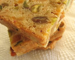 Golden New-Fashioned Dried   Fruitcake with Cashews, Pistachios and Bourbon