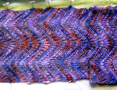 Koigu Scarf Blocking