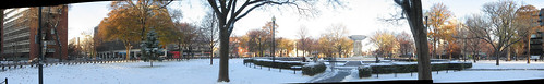 Snowy Dupont Circle Morning Panorama