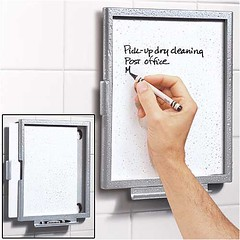shower note table