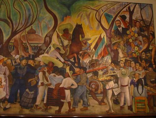 Diego rivera sue o de una tarde dominical en la alameda for Un mural de diego rivera