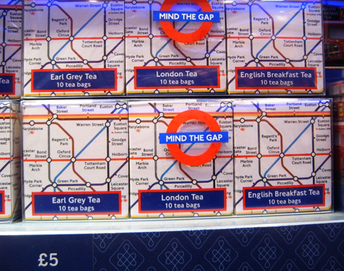 London Underground Map Tea Caddies
