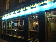 Exterior of Berts Bar, Stockbridge, Edinburgh
