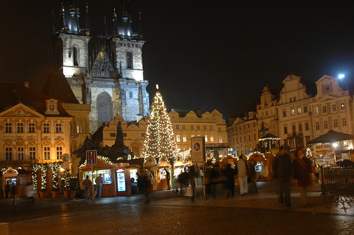 Old Town Square at Christmastime