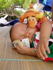 Daniela sleeping with her Tiger