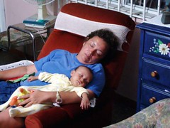 Daniela and grandma sleeping