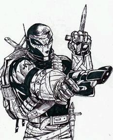 Este luchador del año 3.000 se llama 'Shepard, the vagabond priest', nada menos