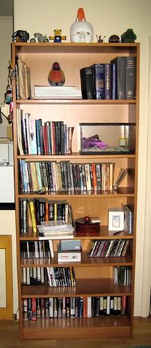 Bookshelf cleaned