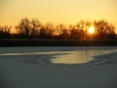Sunrise over Heron Lake