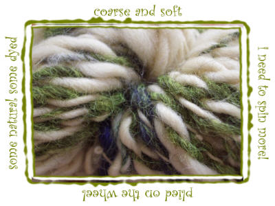 look at that handspun!