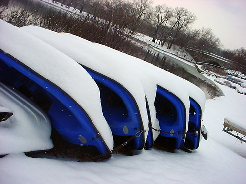 Blue Boats N Snow 130