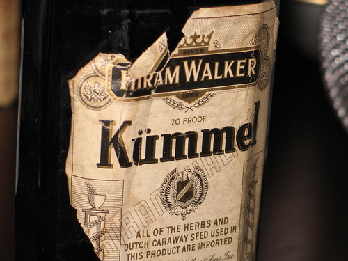 That's one old bottle of kümmel