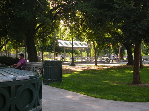 Green all around at St. James Park, Downtown San José