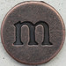 Copper Lowercase Letter m