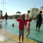 Paddling at brighton playground.<br/>25 May 2008