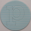 card disc with push out letter p