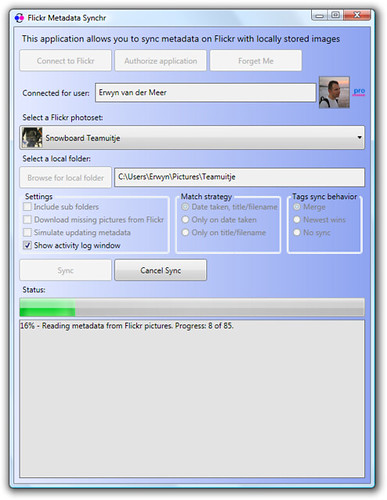 Flickr Metadata Synchr v0.9.0.0