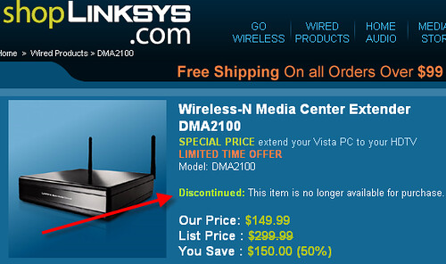 DMA 2100 Discontinued