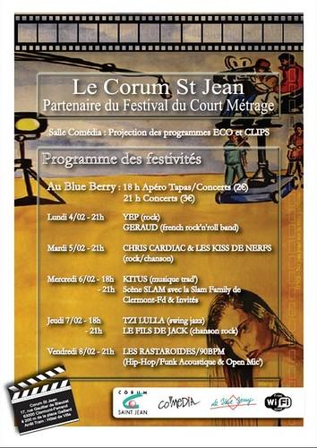 Concerts durant le festival du court metrage de Clermont-ferrand