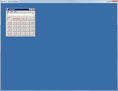 Calculator in RDP