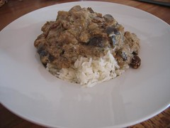 Curry d'aubergines au yaourt