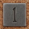Pewter Lowercase Letter l