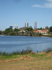 Perth Skyline from the river