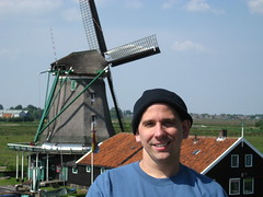 Hazboy with a windill at Zaanse Schans, Holland photo by Hazboy