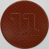 card disc with push out letter u