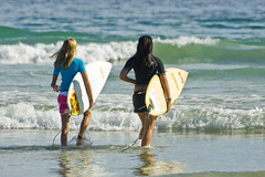 Surfer Girls photo by Steve Crane
