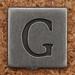 Pewter Uppercase Letter G