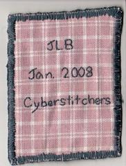 back of my tree ATC - JLB Jan 2008 Cyberstitchers