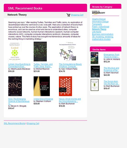 SML Recommend Books: Network Theory / 2007-12-02 / SML Screenshots (by See-ming Lee 李思明 SML)