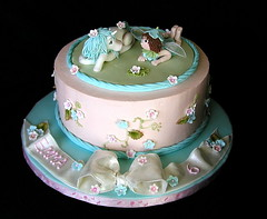 Pink and Blue Fairy Cake photo by JaneBK