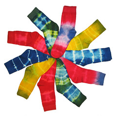 Colourful Batik Socks Spiral photo by Batikart