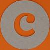 plain card disc letter c