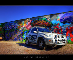 The Grafitti Wall & the RAV - HDR + Orton photo by :: Artie | Photography ::