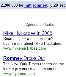 huckabee google ad