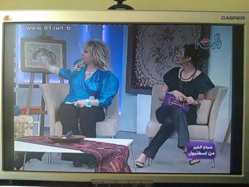 <b>TRT Arabic</b><div>Istanbul'dan Hayırlı Sabahlar programının sunucuları Sn.Yasemin Kutsi ve Mısırlı sunucu Karima Awad .</div>