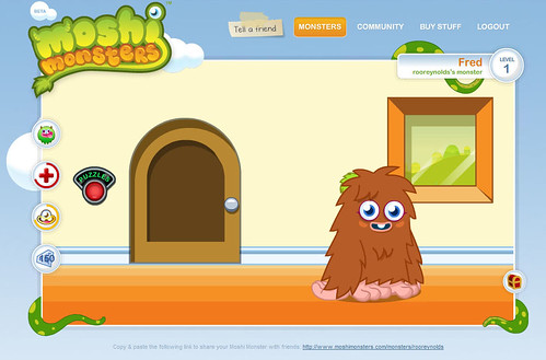 Moshi Monsters - Fred the Furi
