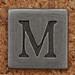 Pewter Uppercase Letter M