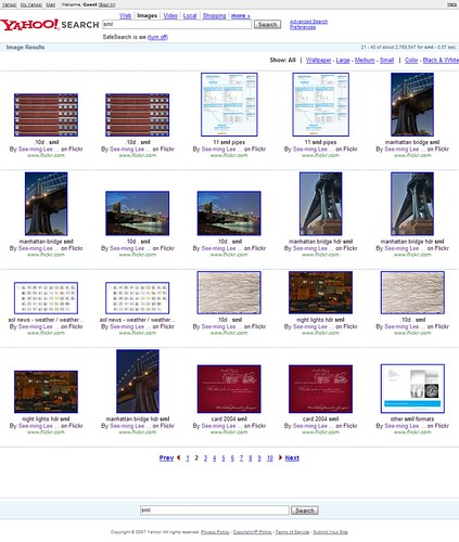 Yahoo Image Search: SML: Page 2 / 2007-12-23 / SML Screenshots (by See-ming Lee 李思明 SML)