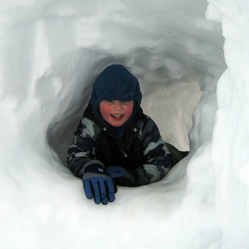 f in a snow hole