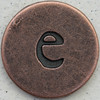 Copper Lowercase Letter e
