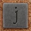 Pewter Lowercase Letter j